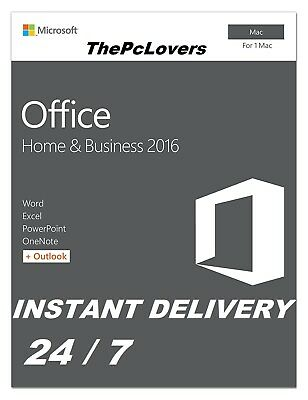 Microsoft Office 2016 for Mac - Home and Business RETAIL LIFETIME
