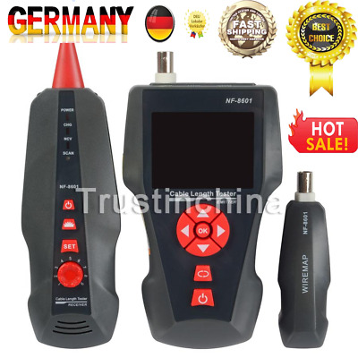 New NF-8601 Network Phone Wire Tracker Cable Tester  BNC POE PING Cross-Talk DE