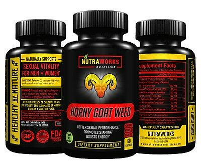 HORNY GOAT WEED - Tongkat Ali Maca Saw Palmetto Energy Boost Supplement 60 CAPS