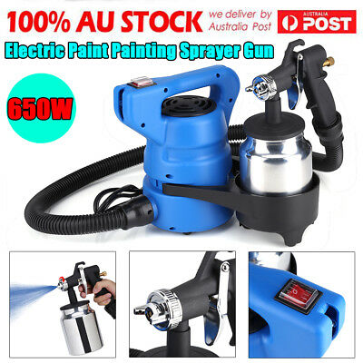 650W Electric Paint Sprayer Spray Gun Painting Machine Furniture Car Wall AU