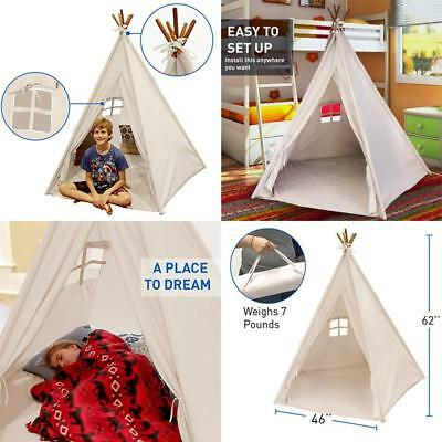 Playhouse Indian Kids Large Teepee Play Tent Indoor/Outdoor Portable Tipi Tent  sc 1 st  PicClick & CHILDREN KIDS Tepee Teepee Tipi Play Tent Playhouse indoor/outdoor ...