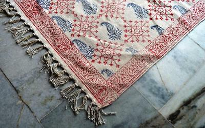Turkish rugs,Hand made kilim Rugs,Area rugs,block print Paisley vintage kilim3x5