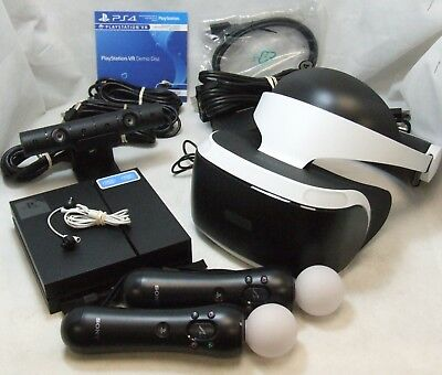 SONY PlayStation VR Headset PS4 4 Camera PlayStation Move Motion Controllers