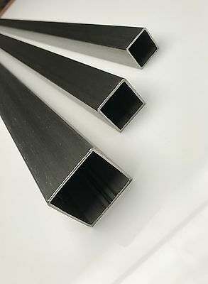 BRUSHED DULL POLISHED Stainless Steel SQUARE TUBE Box Section 25/30/40 & 50mm