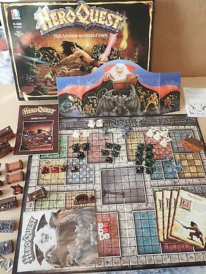 Hero Quest Board Game 1989 MB Games not quite complete