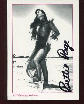 BETTY PAGE autograph HAND SIGNED 4339