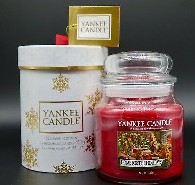 YANKEE CANDLE Housewarmer Jar 411g -  HOME FOR HOLIDAYS in BOX Limited Edition !