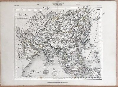 1850 Asia - Hand Coloured Map By J Archer