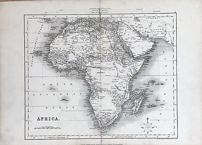 1850 Africa - Hand Coloured Map By J Archer