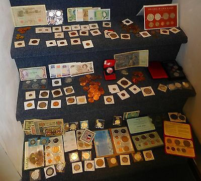 $100+ of World Coins for only $47--Mixed lots--FREE SHIPPING in US--GUARANTEED!