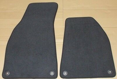 New Genuine Audi A4 B6 B7 Seat Exeo Front Black Carpet Mats Set