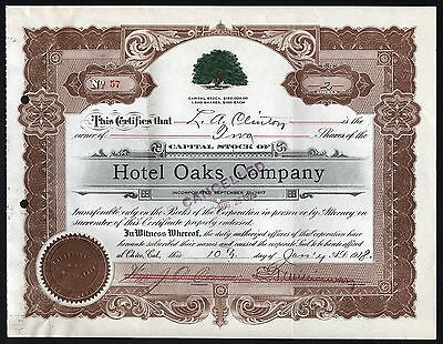 1918 Chico, Kalifornien, USA: Hotel Oaks Company