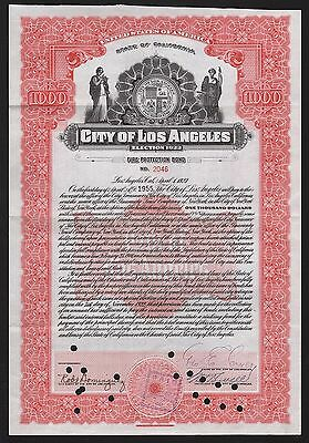 1923 Californien: City of Los Angeles - Fire Protection Bond, Election 1922