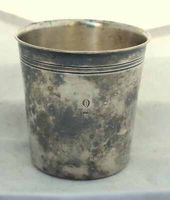 ANTIQUE English A. Lejeune Silver Plated Water Wine Cup Mug Goblet