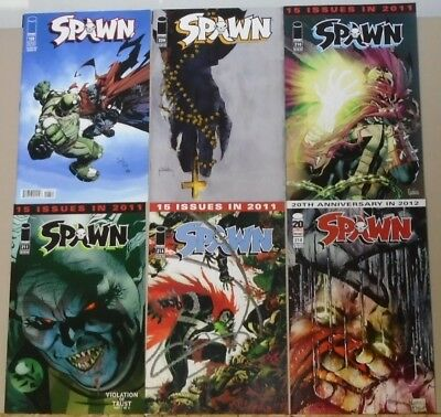 Spawn 198 209 210 211 214 218 lot of 6 low print McFarlane Kudransky