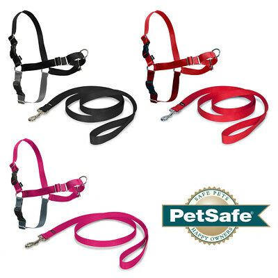 PetSafe Dog Puppy Harness & Lead Non-Pull Collar Easy Walk - 7 Sizes 3 Colours