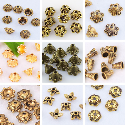 Brass Flower Bead Cap Spacer End Bead Tail Jewelry Making Findings Lead-free