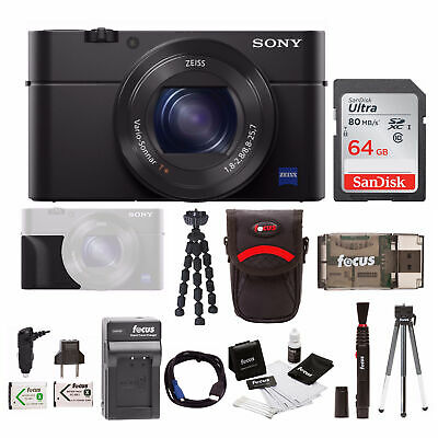 Sony Cyber-shot DSC-RX100 IV Digital Camera with 64GB SD Card + Accessory Bundle