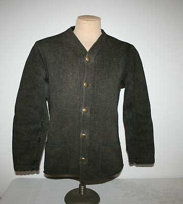 Vintage 1940's Brown's Beach Jacket collorless as is wear holes size small