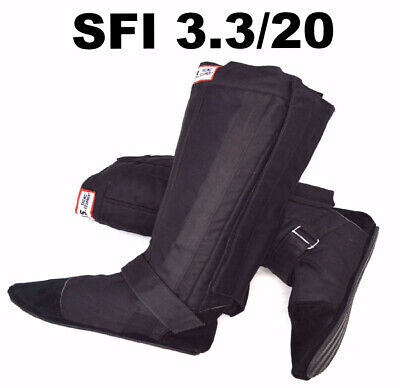 Fireproof Drag Racing Boots Sfi 3.3/20 Sfi 20 Rjs Black Size 10 Pro Modified