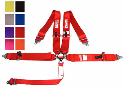 Sfi 16.1 Pull Up Lap Belts Racing Harness 5 Point 3 Cam Lock Red Or Any Color