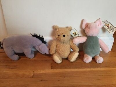 Gund Classic Winnie The Pooh, Piglet And Eeyore Lot