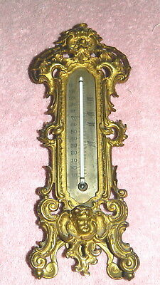 B & H Victorian Cast Iron Thermometer All Original Excellent Piece