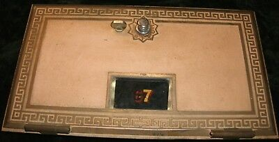 Large Brass Post Office Mail Box Door--Federal Equipment Co.-1958--FREE SHIPPING