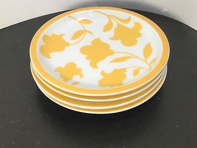 Block - Hearthstone - Vista Alegre - Ginger - Salad Plates - FOUR - 4 - Yellow