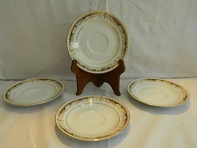 4 Signature Collection Select Fine China 'Queen Anne' Saucers –Japan