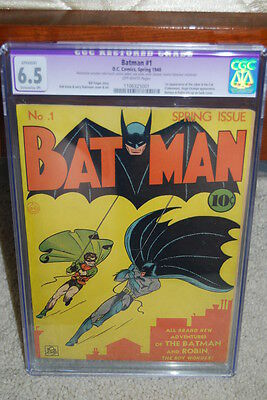 Batman #1 CGC 6.5 (R) DC 1940 Golden Age Holy Grail!! 111 cm 5000+ feedback!!