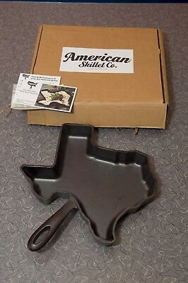 American Skillet Co. Texas Shaped Cast Iron Pre-Seasoned Skillet Made in the USA