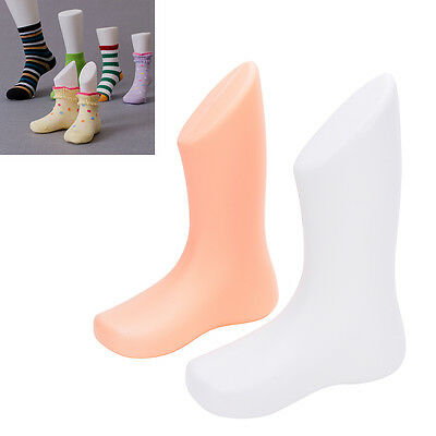 1X Hard Plastic Child Feet Mannequin Foot Model Tools for Shoes Sock Display HLU