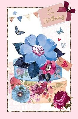 Female Happy Birthday Card Ladies Lovely By Wishing Well