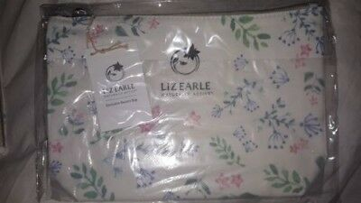 LIZ EARLE~~COSMETICS BAG LARGE~~botanical-print canvas~~ NEW WITH TAGS~~fab gift