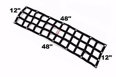 "Pro Mod Wheelie Bar Net Parachute Net 12"" X 48""  Any Color Made In Usa"