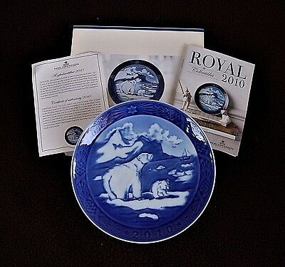 RARE ROYAL COPENHAGEN CHRISTMAS PLATE 2010 NEW 1°quality.WITH BOX & CERTIFICATE