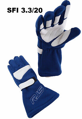 Alcohol Racing Gloves Sfi 3.3/20 Racing Gloves 3-2A/20 Blue Size Large