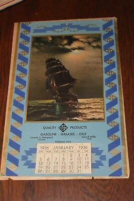 1936 Skelly Gas Calendar , Complete