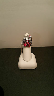 Hello Kitty STRETCH RING  SPARKLE, Red dress