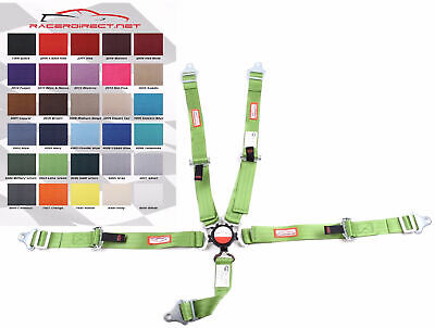 YOUTH RACING HARNESS Sfi 16.1 5 Point Cam Lock Lime Green 30 Colors