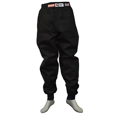 Race Suit Fire Suit Pants 1 Layer Black Adult Medium  Dirt Oval Racing Med