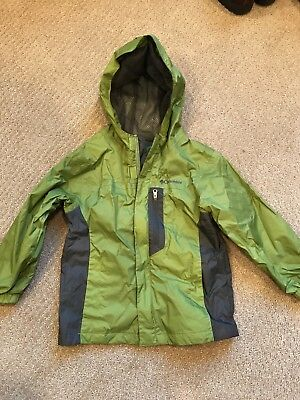 COLUMBIA Green and grey Windbreaker RAIN JACKET Coat Size TODDLER 4T Baby Hiking