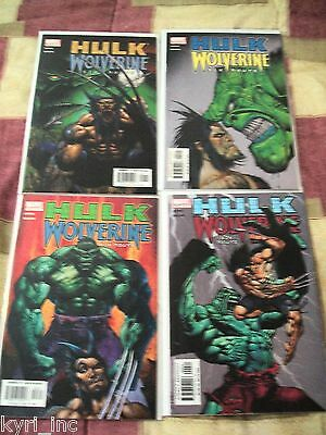 HULK WOLVERINE SIX HOURS #1 2 3 4 of 4  BRUCE JONES KOLINS MARVEL COMICS S8