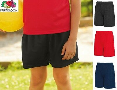 Boys Girls Kids Childrens School Sports Fruit OF The Loom PE Shorts SS020