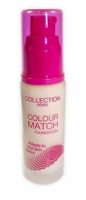 Collection 2000 Colour Match Foundation  30ml Shade 6 Dark Adapts to Skin Colour