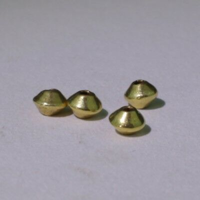 4 X Lovely Ancient Roman Gold Beads - Circa 2Nd Century Ad No Reserve 031