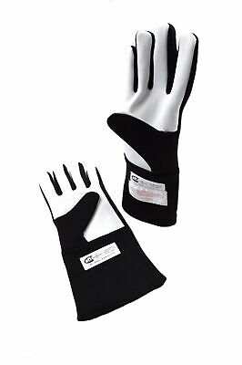 Rjs Racing Equipment Sfi 3.3/5 2 Layer Nomex Racing Gloves Black Xs 20212-Xs