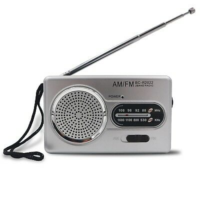 Battery Powered Compact Transistor Portable AM/FM RADIO Home Outage Power Rain
