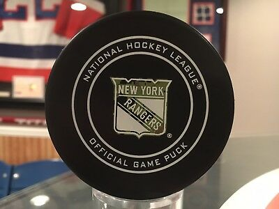 Official 2018 NHL New York Rangers Game Puck Camo - Military - Limited